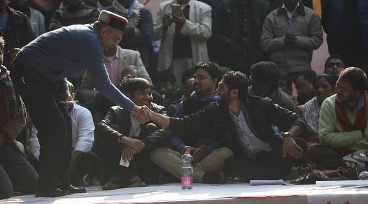 Jignesh mevani, jignesh mevani rally, yuva hunkar rally, delhi rally