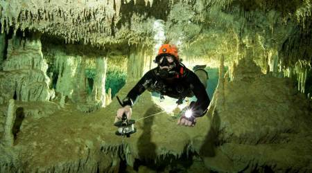 World's biggest flooded cave found in Mexico throws light on Mayan civilisation, explorers say
