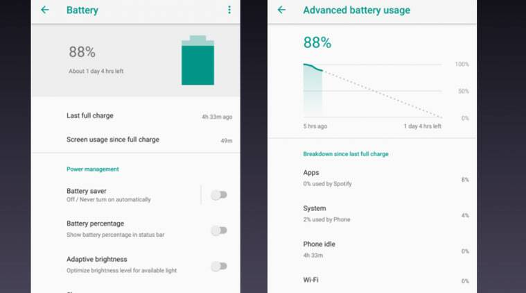 Mi A1 Android Oreo update, Mi A1 Battery Android Oreo