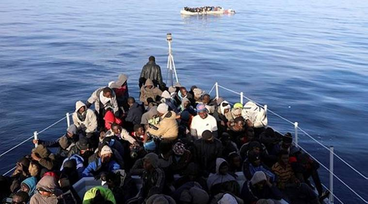 migrants rescued at sea, migrants rescued of Libya coast, libya, italy coastguard, European Union anti-smuggling operation, migrants rescued, indian express, world news