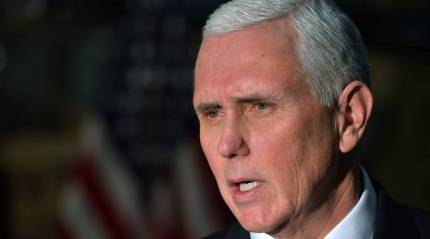 Timing of President Trump's peace plan depends on Palestinians: MikePence