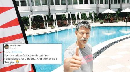 Milind Soman asks if anyone wants to join him for his daily 7-hour marathon; Twitterati ask 'sleeping marathon'?