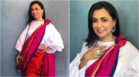 Mini Mathur, Mini Mathur latest photos, Mini Mathur fashion, Mini Mathur saris, Mini Mathur balloon sleeve blouse