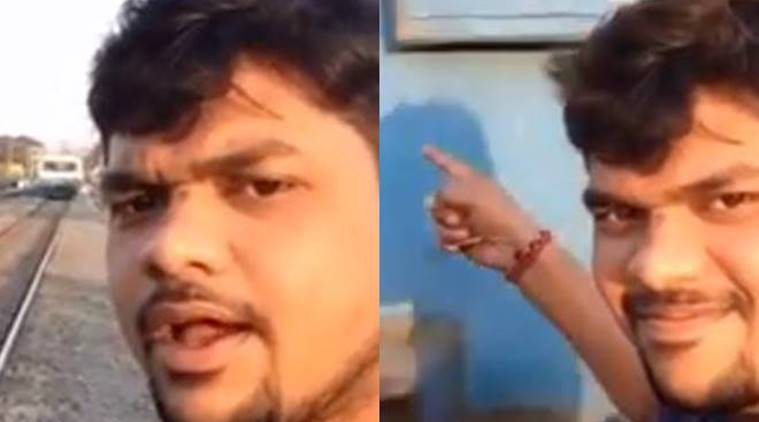 Video Hyderabad Student Selfie Bid Ends In Horror, Gets Hit By Approaching Train -8515