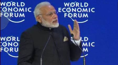 PM Modi at WEF: Globalisation is losing its lustre; climate change is a huge threat rightnow