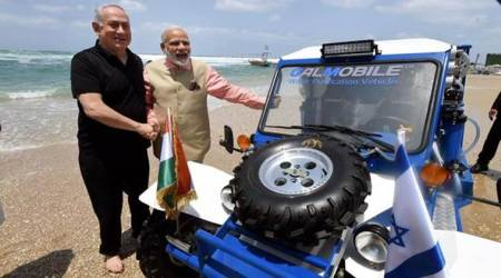 Benjamin Netanyahu gifts desalination jeep to PM Modi