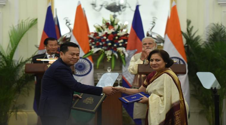 India, Cambodia ink four pacts to strengthen bilateral ties