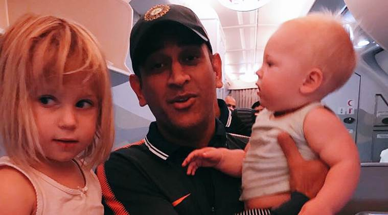 MS Dhoni travels to South Africa with Jonty Rhodes family, see photo