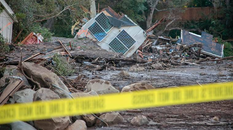 First Responders Search For Survivors After Deadly California Mudslides