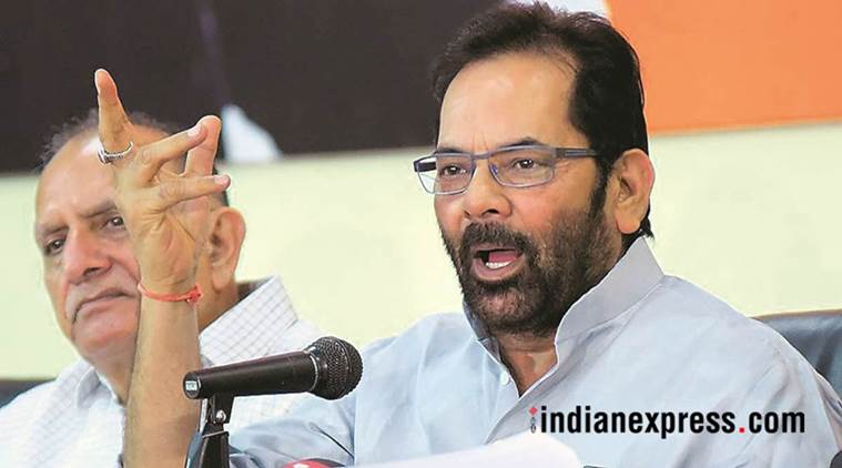 Cong history-sheeter in throttling democratic values: Naqvi