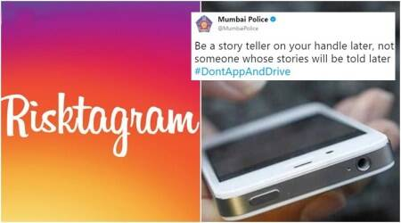 Mumbai Police's quirky ways of saying 'no phones while driving' has got Twitter users to sit up and notice