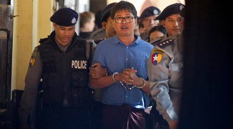 Reuters journalists charged, myanmar, Reuters news agency, journalists arrested, Wa Lone, Kyaw Soe Oo, indian express, world news
