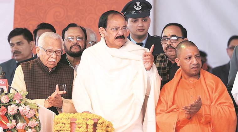 venkaiah naidu, ramrajya, hinduism, uttar pradesh, yogi adityanath, yogi government, indian express