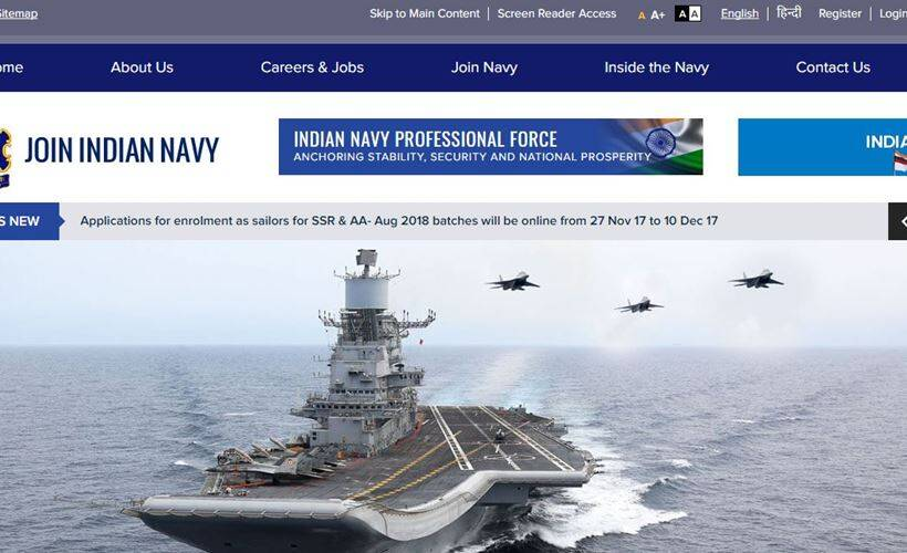indian navy. join navy, navy jobs, joinindiannavy.gov.in