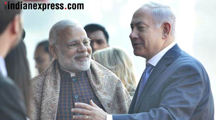 netanyahu photos, israeli pm india visit pics, pm narendra modi images, benjamin netanyahu images, israeli pm in india pictures, netanyahu in india photos, netanyahu wife sara photo, modi netanyahu meet pics, israeli pm india visit, rashtrapati bhavan photo, indian express