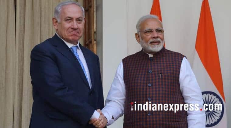 benjamin netanyahu, israel, pm narendra modi, benjamin netanyahu Gujarat visit, india israel defence relation, india israel meeting, modi benjamin netanyahu india visit, indian express