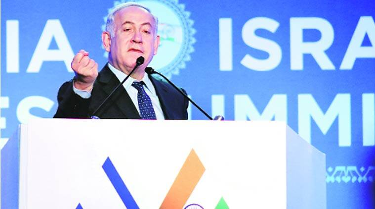 Israel, Benjamin Netanyahu, Benjamin Netanyahu India visit, India-Israel Business Summit, india-Israel rrelations, PM Modi, indian express