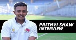 Prithvi Shaw Interview