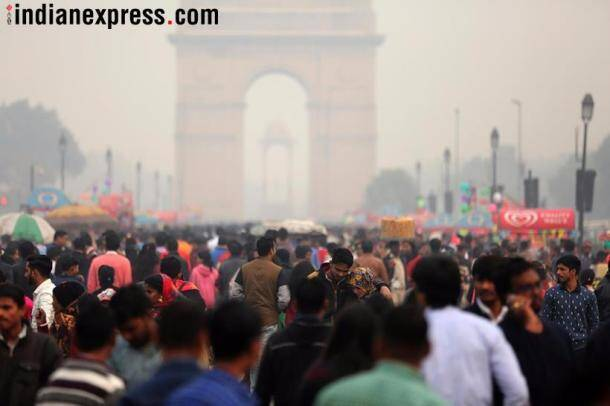 New year celebrations at India Gate