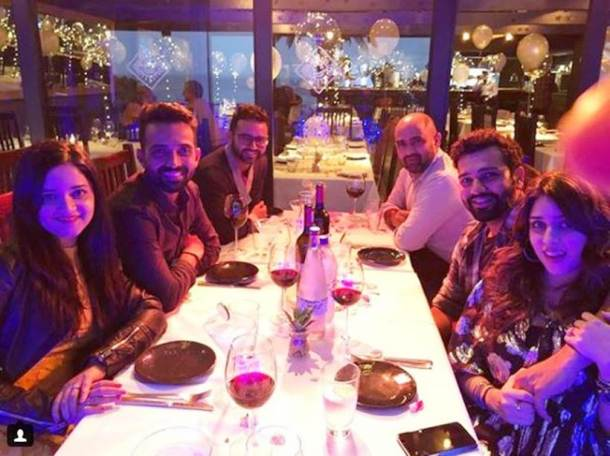 Cricketers celebrate new year