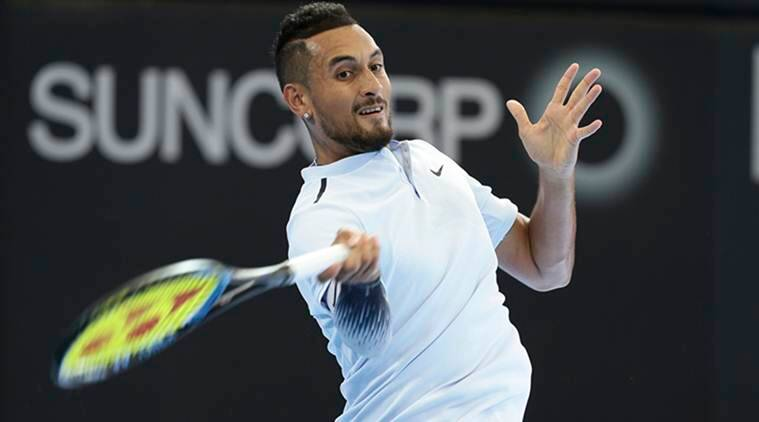 Nick Kyrgios, Nick Kyrgios win, Grigor Dimitrov, Ryan Harrison, Brisbane International, sports news, tennis, Indian Express