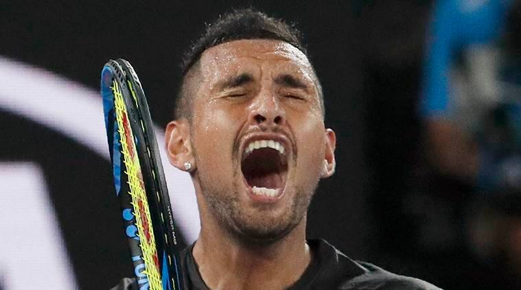 Nick Kyrgios, Nick Kyrgios Australian Open 2018, Australian Open 2018, Nick Kyrgios vs Grigor Dimitrov, sports news, tennis, Indian Express