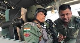 Defence Minister N Sitharaman Flies In IAF Sukhoi 30 InJodhpur
