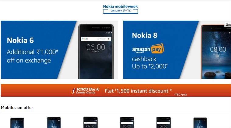 Nokia 6, Nokia 6 offer, Nokia 6 discount, Nokia 6 cashback, Amazon, Nokia 8 cashback, Nokia 8 discount, Nokia 8 offer, Nokia 6 price in India, Nokia 8 price, Nokia 6 review, Nokia 6 specs, Nokia 8 review