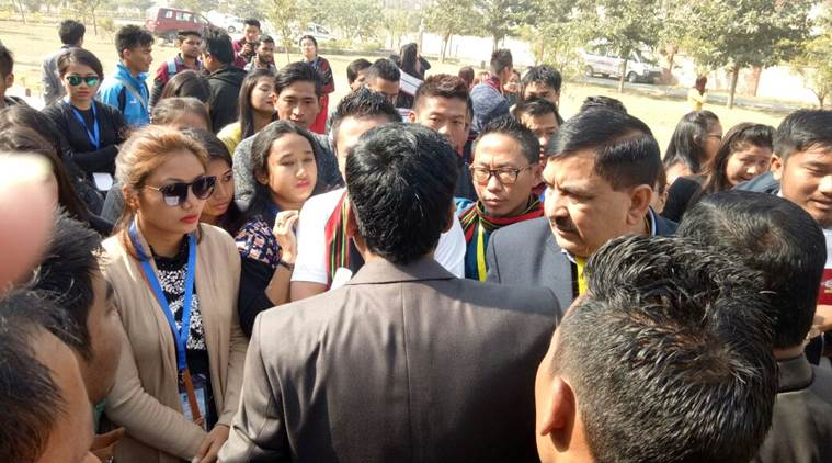 Northeast delegates, 22nd National Youth Festival 2018, northeast racial discrimination, northeast harassment, India news, indian express news