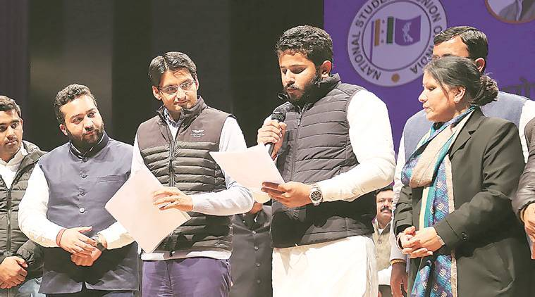 Panchkula, NSUI leader, FIR against Haryana NSUI chief, Divyanshu Budhiraja, NSUI, India news, indian express news