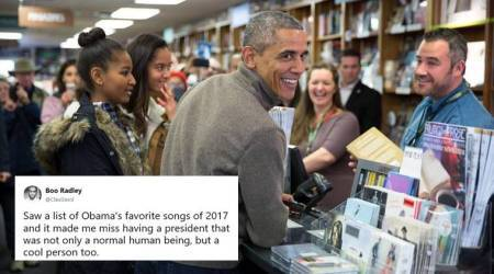 Barack Obama's 'top songs and books list' from 2017 is a great hit with Netizens