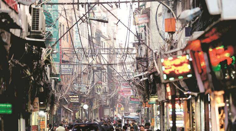 Old Delhi beautification project, Old delhi, chandni chowk, chandni chowk wires, Nand kishor singh, Old delhi electrician, electrician, Chandni Chowk Metro station,