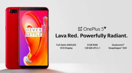 OnePlus 5T, OnePlus 5T Lava Red, OnePlus 5T Lava Red India launch, OnePlus 5T Lava Red launch, OnePlus 5T Lava Red price in India, OnePlus 5T Lava Red Amazon sale, OnePlus 5T features, OnePlus 5T specifications, OnePlus 5T review