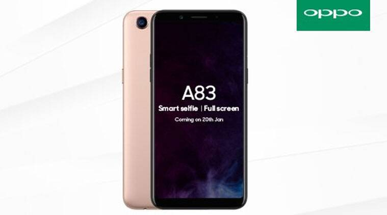 Oppo A83 India launch on January 20