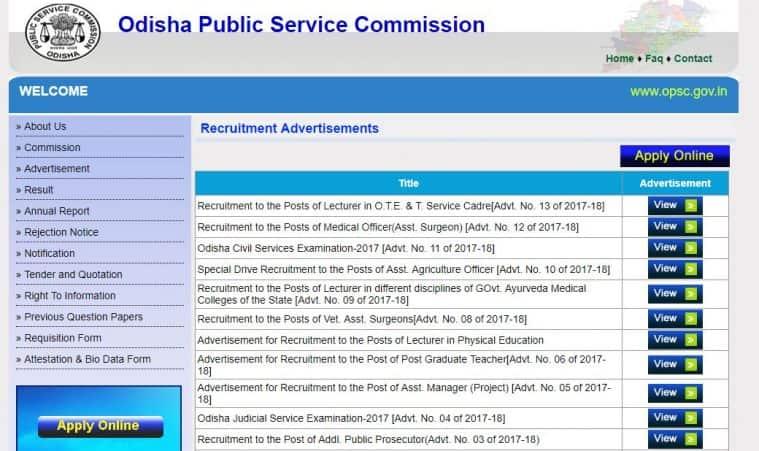 opsc, opsconline.gov.in, govtjobs, latest government jobs, odisha jobs