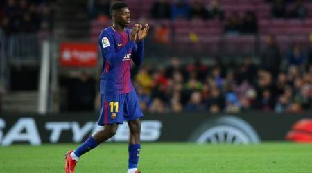 Barcelona forward Ousmane Dembele injured again, out for 3 to 4 weeks