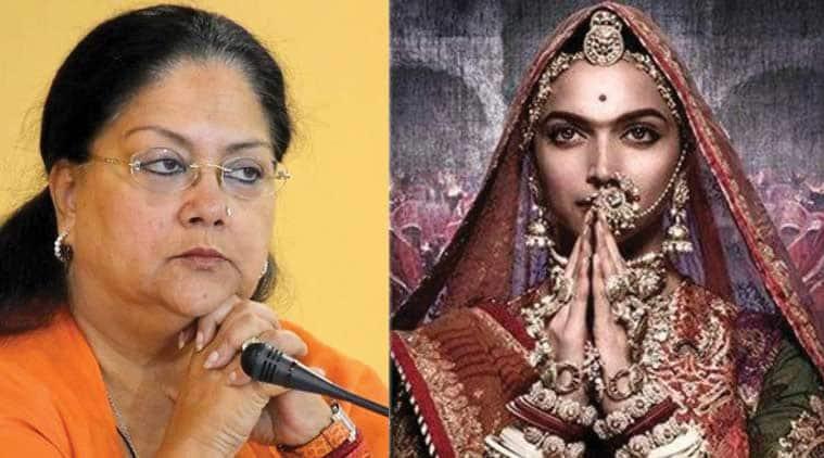 Vasundhara Raje says no Padmavat screening in Rajasthan