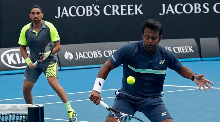 Leander Paes and Purav Raja at the Australian Open