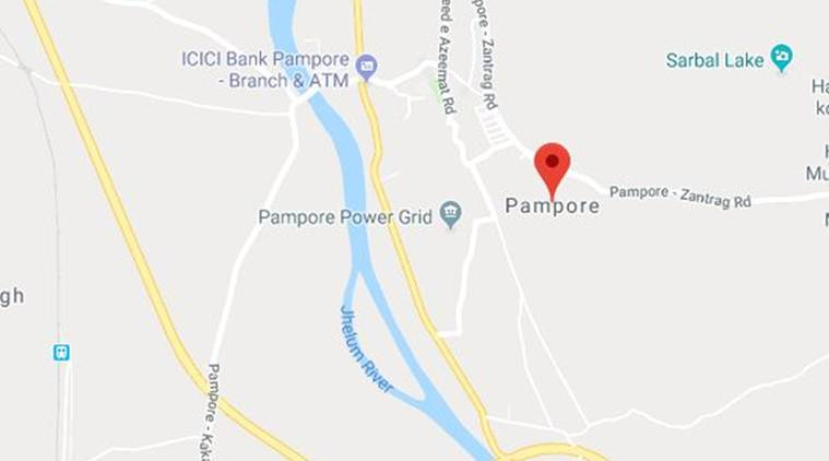 Pampore Pressure cooker IED found, Pressure cooker IED found Pampore, Pampore Pressure cooker, CRPF personnel, CRPF, India News, Indian Express, Indian Express News