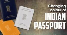 Why is the Indian passport changing colour?