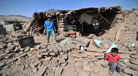 Earthquake in Peru destroys dozens of homes, kills 1 man