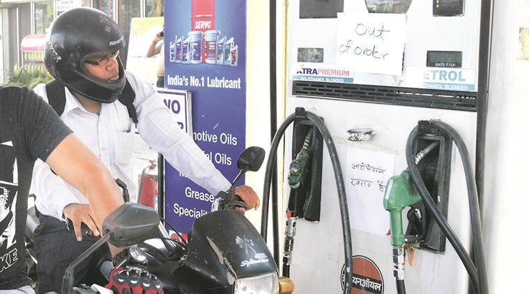 Oppn likely to corner govt over fuel price hike  Opposition likely to corner Modi government over fuel price hike petrol pump 759