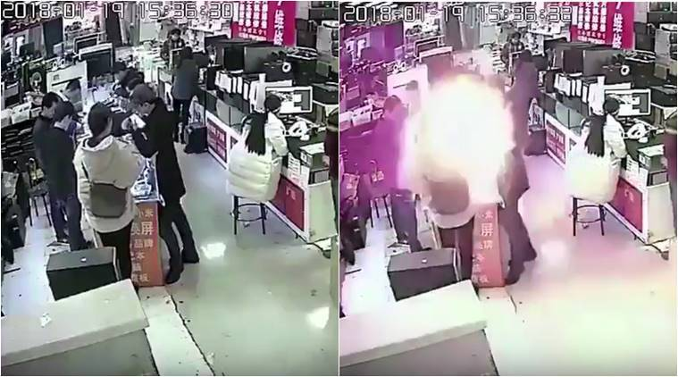 Man Bites Smartphone Battery, Seems Shocked When It Explodes in His Face
