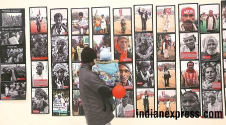 Safdar Hashmi Memorial, constitutional club, art show, farmer protest, sahmat, babri masjid, photo gallery, indian express