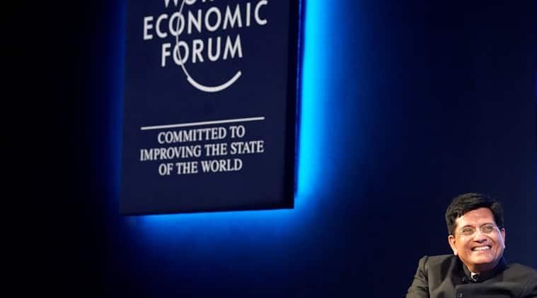 piyush goyal, union railway minister, davos, world economic forum, wef