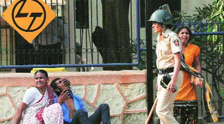 Powai police arrested 18 protesters for obstructing public servants from performing their duties.