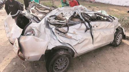 Five powerlifters die as car rams pole in Alipur, one critical