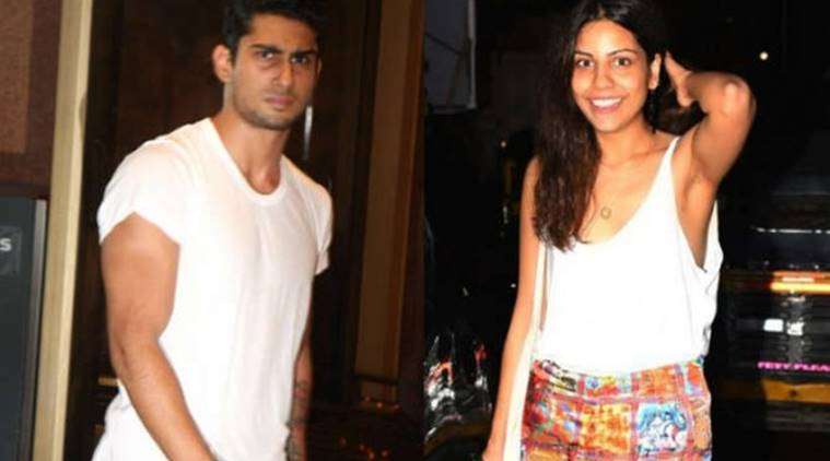 Prateik Babbar with his girlfriend Sanya Sagar.