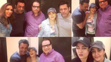 Salman Khan, Iulia Vantur, Sonakshi Sinha and Bobby Deol ring in Preity Zinta's 43rd birthday, see photo
