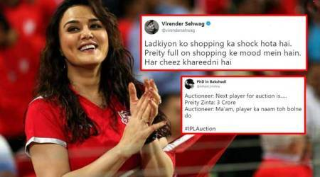 IPL Auction 2018 is back; and Preity Zinta's bidding frenzy becomes the butt of all jokes